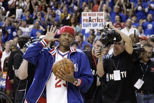 Allen Iverson Returns to Philly in the Reebok Question