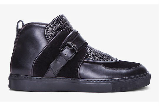 Givenchy Black Padded Leather Sneakers