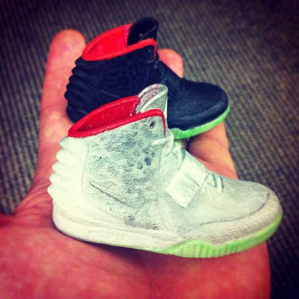 Hand Painted Miniature Nike Air Yeezy 2s