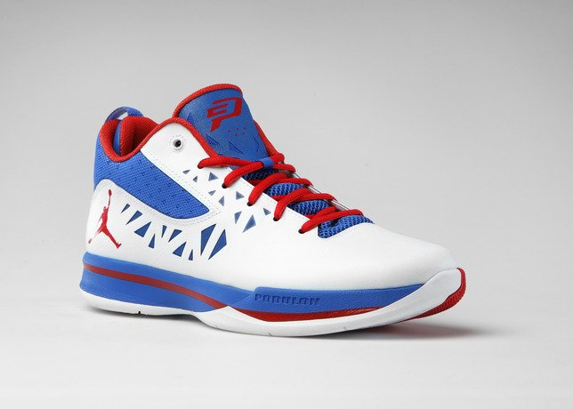 buy online 16dd0 0198d Jordan CP3.V  White Sport Red-Treasure Blue  Not Releasing at