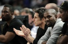 Kanye West Sits Courtside at MSG in the Air Flight 89