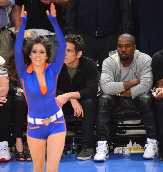 ff26aa8c9d2bf Kanye West Sits Courtside at MSG in the Air Flight 89