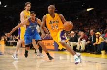 Kobe Rocks Teal Laces in Game 3 Win in LA