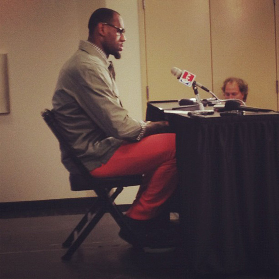 LeBron James in the Nike Air Yeezy 2