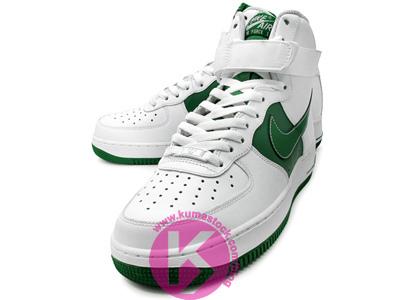 Nike Air Force 1 High White/Gorge Green-White