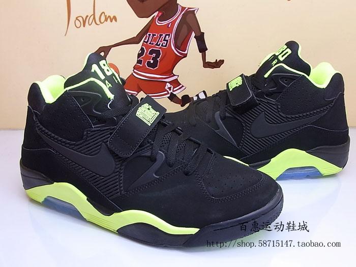 Nike Air Force 180 'Black/Volt' - Detailed Look