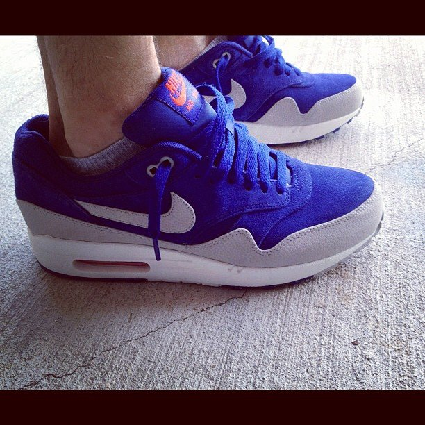 Nike Air Max 1 Premium 'Deep Royal BlueSail Team Orange