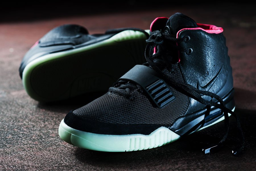 Nike Air Yeezy 2 'Black/Solar Red'