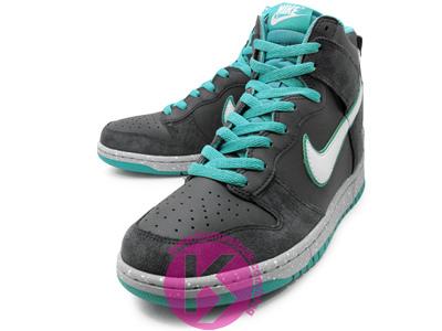 Nike Dunk High 'Grey/New Green'