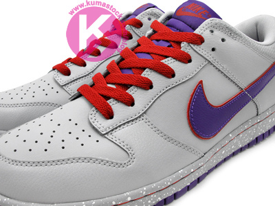 Nike Dunk Low 'Grey/Royal-Red'