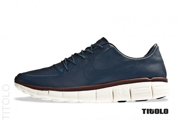 Nike Free 5.0 V4 Deconstruct 'Thunder Blue/Thunder Blue-Sail-Team Brown'
