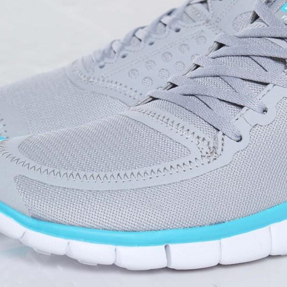 Nike Free 5.0 V4 'Wolf Grey/White-Turquoise Blue'