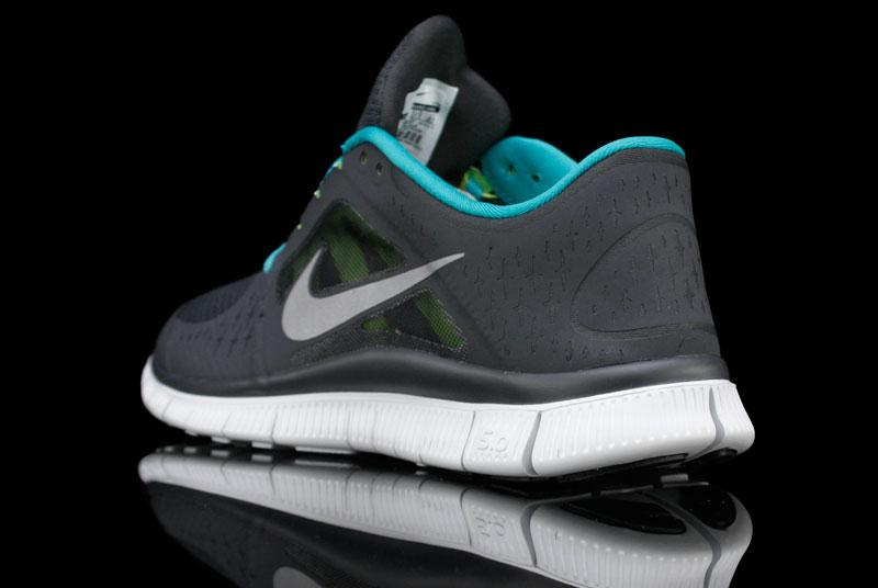 Nike Free Run+ 3 'Anthracite/Reflective Silver-Pro Platinum-New Green'