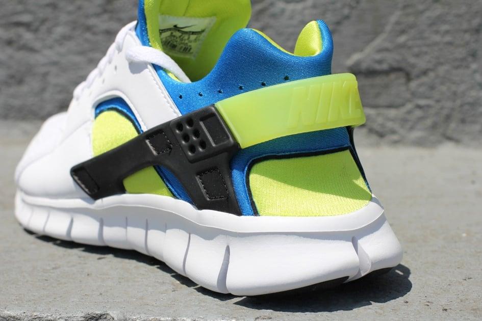 Nike Huarache Free 2012 'White/Soar Blue-Cyber'