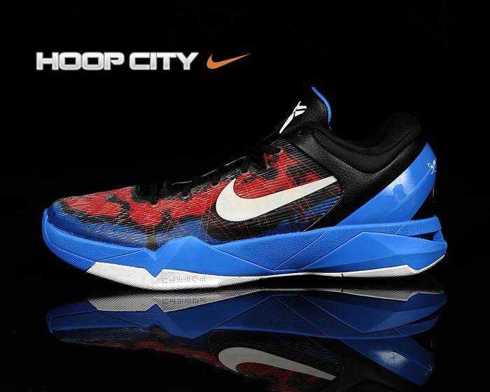 Nike Kobe 7 Poison Dart Frog  Photo Blue White-Team Red-Black ... 6c3abf6da0ba