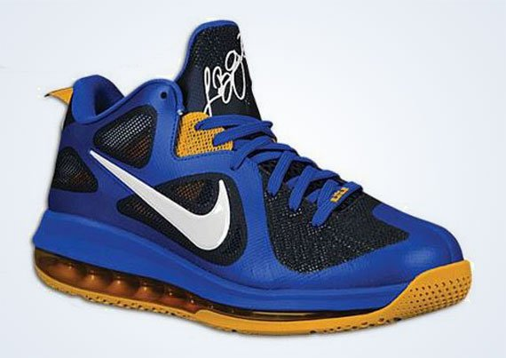 Nike LeBron 9 Low  Blue Black-Gold   b86e431a4