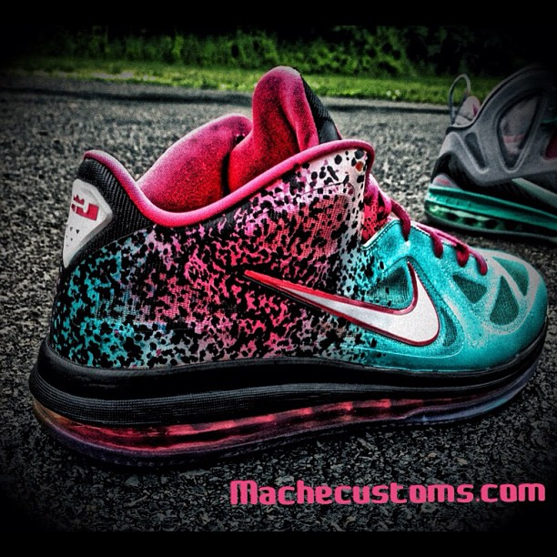Nike LeBron 9 Low 'Miami Nights' by Mache Custom Kicks