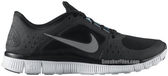 Nike N7 Free Run+ 3 'Black/Reflective Silver-White-Dark Turquoise'