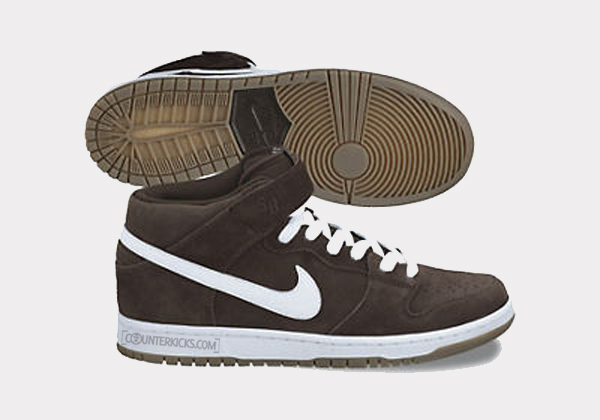 Nike SB Dunk Mid 'Baroque Brown/Gum Dark Brown-White' - October 2012