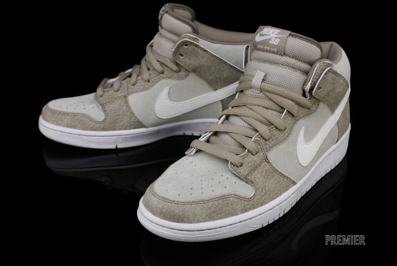 ... Nike SB Dunk Mid 'Khaki/White-Light Stone'