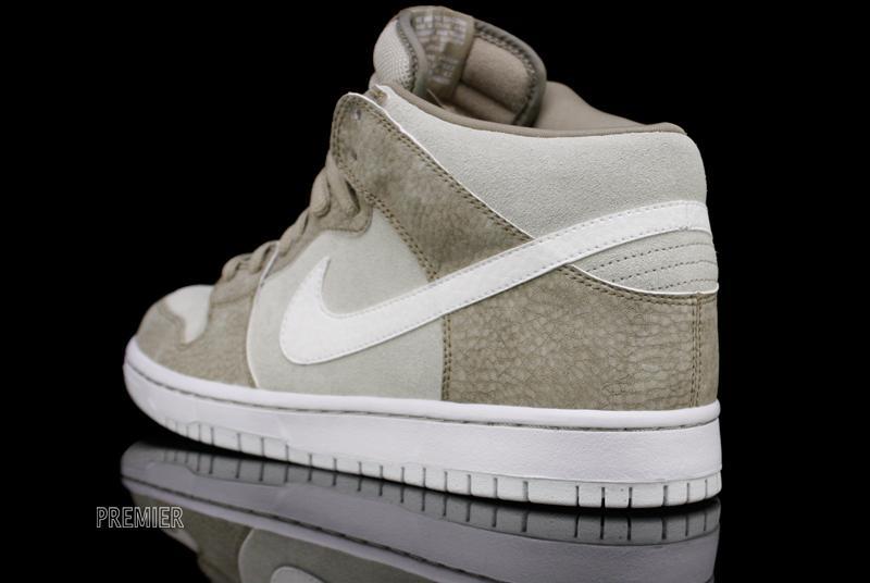 Nike SB Dunk Mid 'Khaki/White-Light Stone'