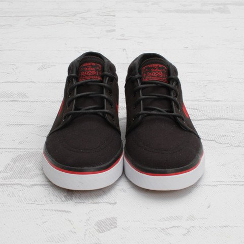 Nike SB Stefan Janoski Mid 'Black/Sport Red' - Now Available