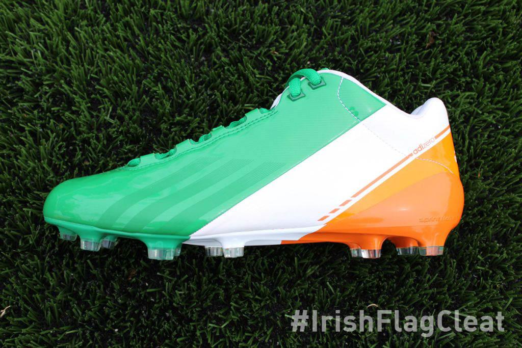 Notre Dame Irish Flag adidas adiZero Smoke Football Cleats