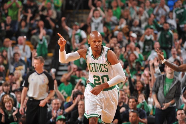 89f7917f739708 Ray Allen in  Home  Air Jordan 2012 PE for Game 5