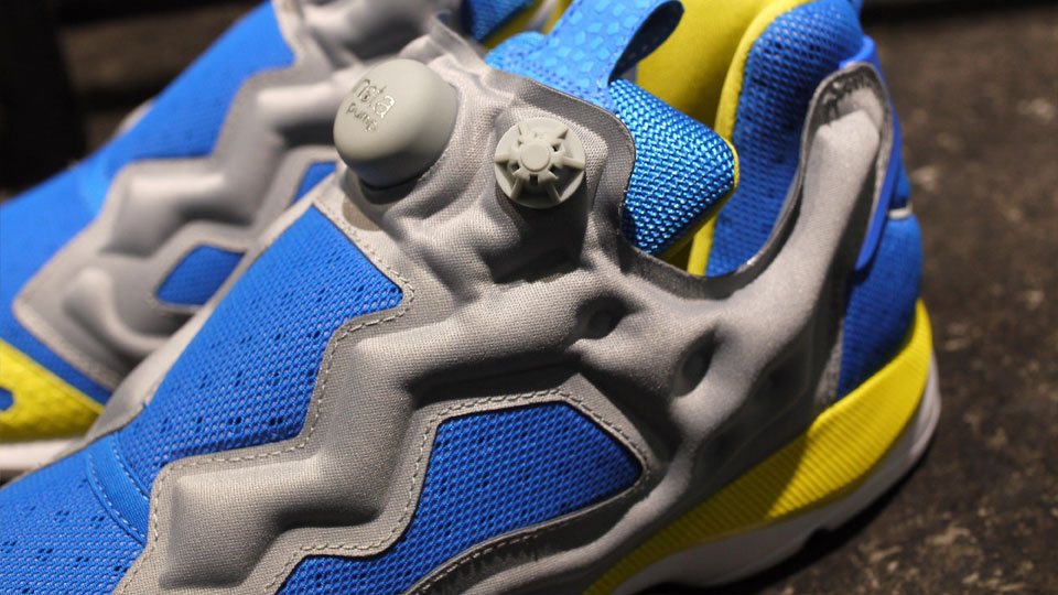 Reebok Insta Pump Fury HLS 'Grey/Blue-Yellow'