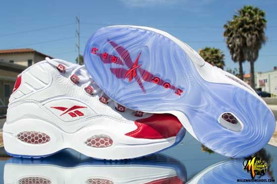 Reebok Question Mid 'White/Pearlized Red' Returns Friday