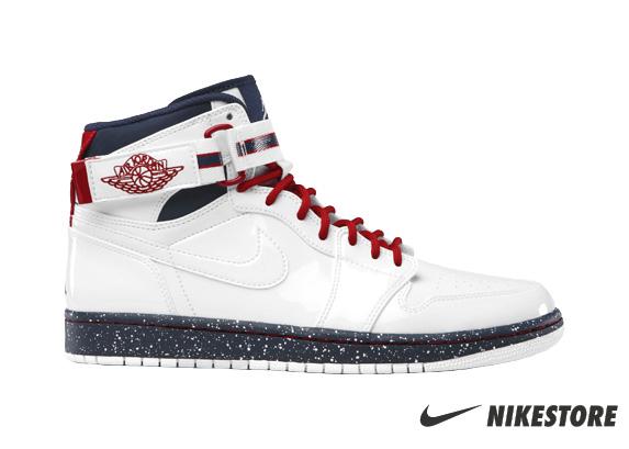 Release Reminder: Air Jordan 1 High Strap Premier 'White/White-Varsity Red-Midnight Navy'