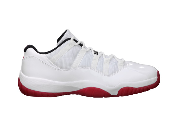 Release Reminder: Air Jordan 11 Low 'White/Varsity Red-Black'