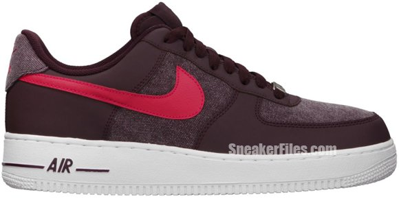 Release Reminder: Nike Air Force 1 Low 'Red Mahogany/Scarlet Fire-White'