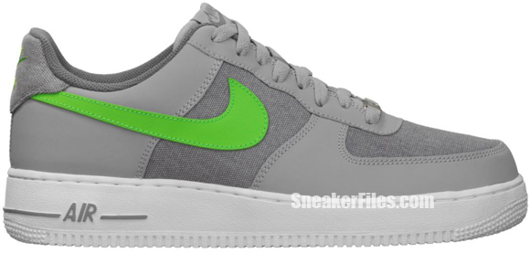 Release Reminder: Nike Air Force 1 Low 'Wolf Grey/Action Green-White'