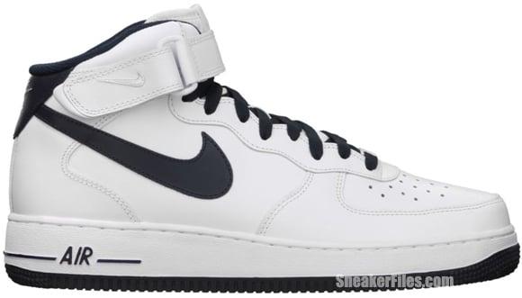 Release Reminder  Nike Air Force 1 Mid  White Dark Obsidian ... 013aa5b19b