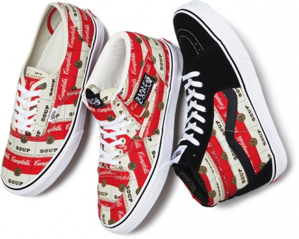 Release Reminder: Supreme x Vans Campbell's Soup Collection
