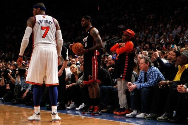 Spike Lee Debuts 'Knicks' Foams at Game 3 at MSG