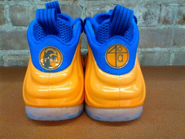 Spike Lee Orange and Blue Nike Air Foamposite One