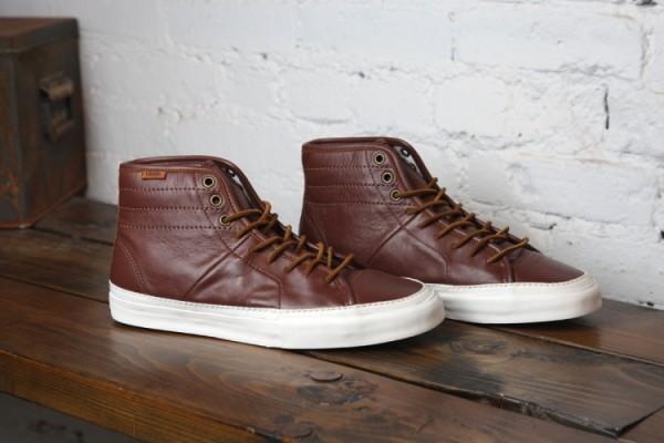 Vans Vault Priz Hi Laced II LX 'Brown Leather'