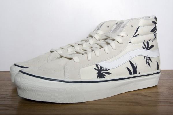 Vans Vault Sk8-Hi LX OG 'Palm Leaf' White/Navy