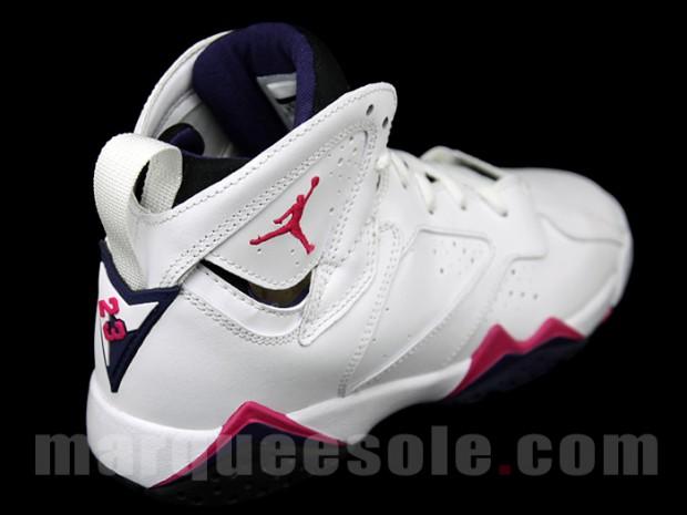 Air Jordan 7 Gs White Pink First Look Sneakerfiles