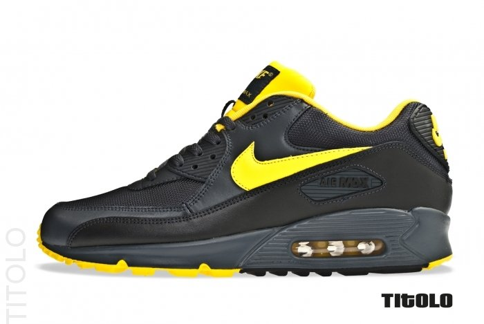 buy popular a0cc7 94882 30%OFF Nike Air Max 90 Anthracite Yellow Black Neutral Grey