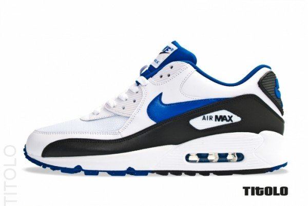 8ae38cf07 Nike Air Max 90  White Game Royal-Black