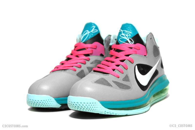 Nike LeBron 9 Low  South Beach  Custom  f8ef86ee7