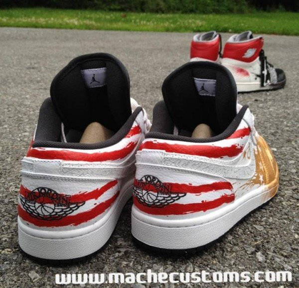 Air Jordan 1 Phat Low 'OG Dave White' by Mache Custom Kicks