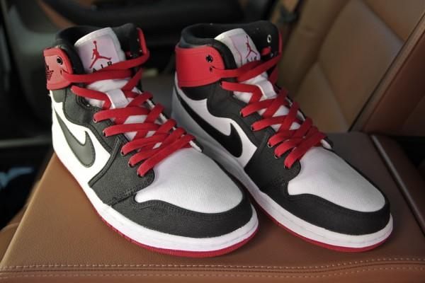 Air Jordan 1 Retro KO Hi 'White/Black-Varsity Red' - Final Look
