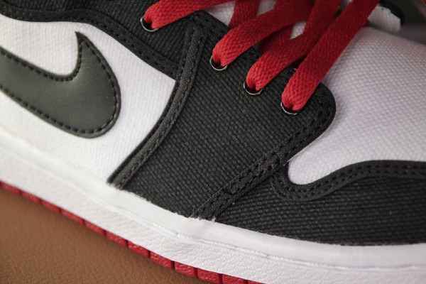 Air Jordan 1 Retro KO Hi 'White/Black-Varsity Red' - Final Look