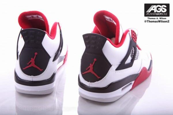 Air Jordan 4 'Fire Red' - Detailed Images