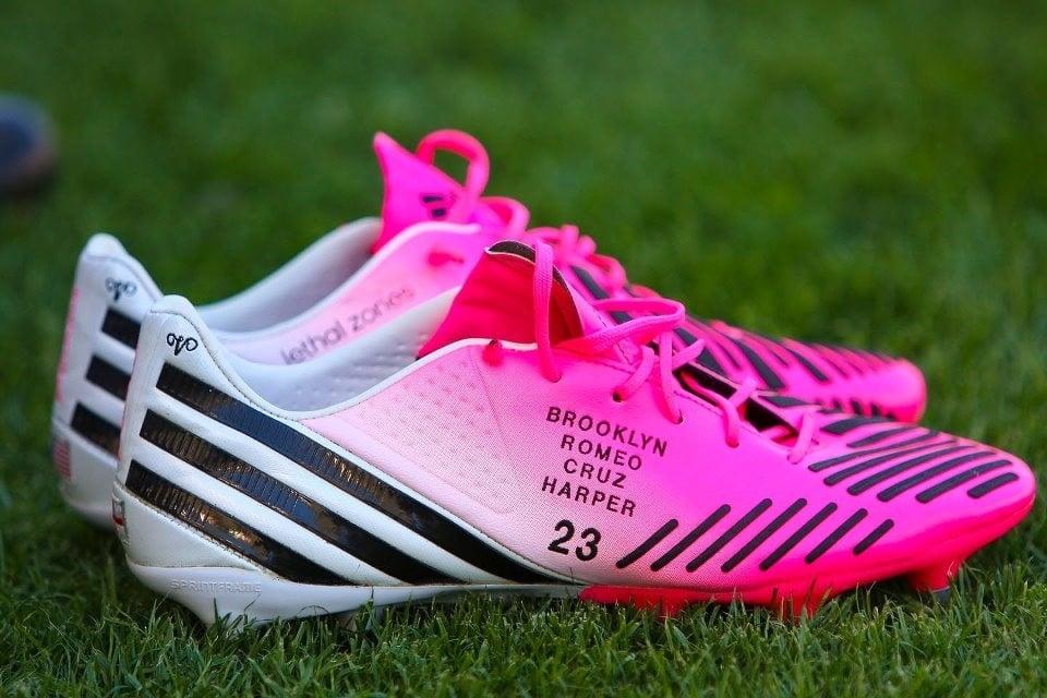 David Beckham's adidas Predator LZ TRX Cleats