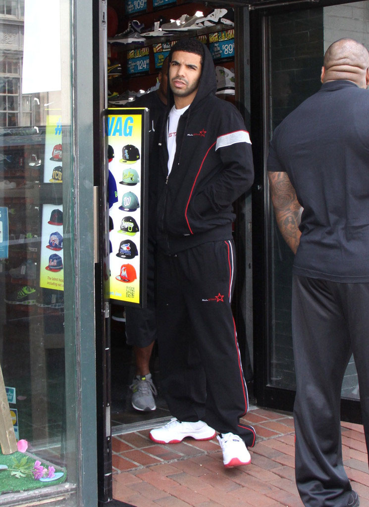 418256c2 Drake Hits D.C. in the Air Jordan 11 Low | SneakerFiles